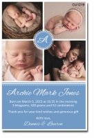 CU1219 - Baby Boy Birth Announcement Template