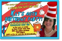 CU1223 - Cat in the Hat Birthday Invitation Template