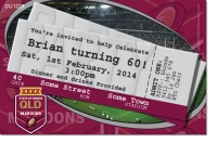 CU1225 - Qld Maroons Rugby Birthday Invitation