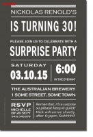 CU1235 - Mens Surprise Party Invitation template