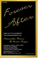 CU1236 - Forever After Engagement Invitation