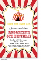CU1237 - Circus Carnival themed invitation