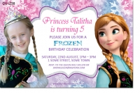 CU1238 - Frozen Anna Girls Birthday Invitation