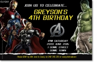 CU1241 - Marvel Avengers 2nd Birthday Invitation