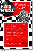 CU1242 - Rock and Roll Adults Birthday Invitation