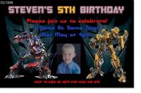 CU1245 - Transformers Birthday Invitation