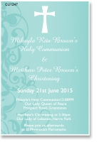 CU1247 - Joint Christening & Holy Communion Invitation
