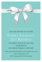 CU1248 - Tiffanys Bow 21st Birthday Invitation