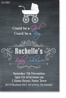 CU1253 - Chalkboard Baby Shower Invitation