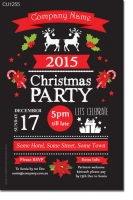 CU1255 - Work Chalkboard Christmas Party Invitation