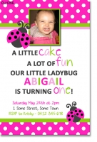 CU1256 - Lady Bug Girls Birthday Invitation