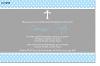 CU1258 - Boys Christening and Baptism Invitation