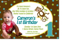 CU1263 - Monkey Birthday Invitation