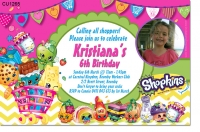 CU1265 - Shopkins Birthday Party Invitation