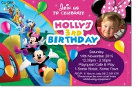 CU1266 - Girls Minnie Mouse Mickey Mouse Clubhouse Birthday Invi