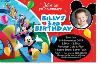CU1267 - Boys Mickey Mouse Clubhouse Birthday Invitation