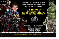 CU1270 - Avengers Birthday Invitation With Photo