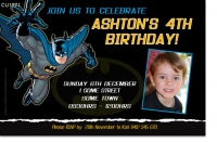 CU1271 - Batman Birthday Invitation