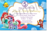 CU1272 - Little Mermaid Birthday Invitation