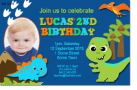 CU1274 - Little Boys Dinosaur Invitation