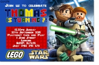 CU1276 - Lego Star Wars Birthday Invitation