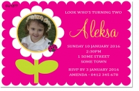 CU1277 - Flower Birthday Invitation