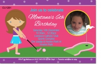 CU1281 - Putt Putt Golf Birthday Invitation