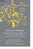 CU1284 - Love birds Engagement Invitation