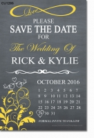 CU1285 - Love Birds Save The Date Card