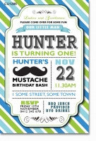CU1286 - Moustache Birthday Invitation