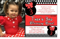 CU1290 - Minnie Mouse Birthday Invitation