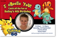 CU1304 - Pokemon Go Birthday Invitation