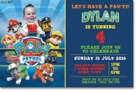 CU1307 - Paw Patrol Birthday Invitation