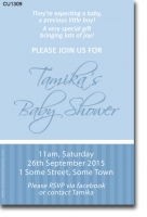 CU1309 - Blue Boys Baby Shower Invitation