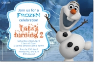 CU1314 - Frozen Olaf Birthday Invitation