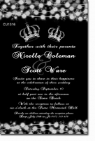 CU1316 - Wedding Invitation With Crowns