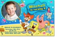CU1317 - Spongebob Squarepants Birthday Invitation