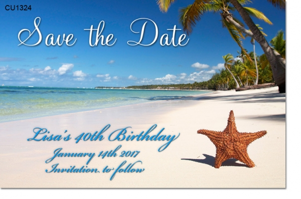 CU1324 - Save The Date Beach Invitation