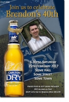CU1334 - Tooeys Extra Dry Ted Beer Birthday Invitation