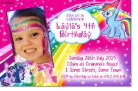 CU1348 - My Little Pony Rainbow Dash Birthday Invitation