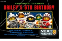 CU1352 - Boys Lego Nexo Knights Birthday Invitation