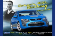 CU1359 - Ford Fpv F6 Birthday Invitation