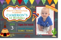 CU1361 - Mexican Fiesta Photo Birthday Invitation