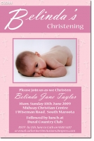 CU244 - Christening Girl - Strips (maroon)