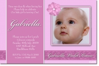 CU378 - Christening Girl - Flower (Pink)