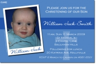 CU462 - Christening Boy - William