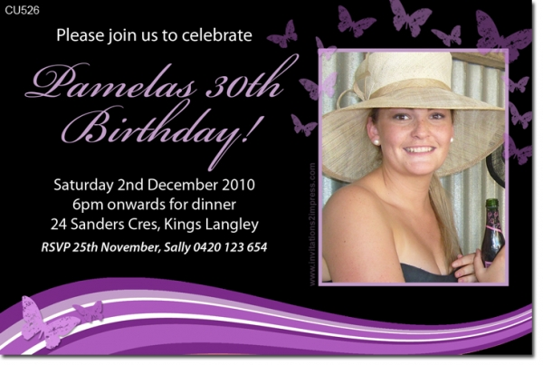 Cu526 adult birthday butterfly ladies birthday invitations cu526 adult birthday butterfly bookmarktalkfo Gallery