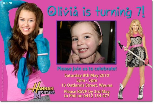 CU570 - Themed Birthday Girl - Hannah Montana Birthday