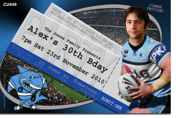 CU649 - Adult Birthday - Cronulla Sharks