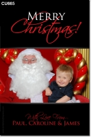 CU665 - Christmas Card Santa Photo
